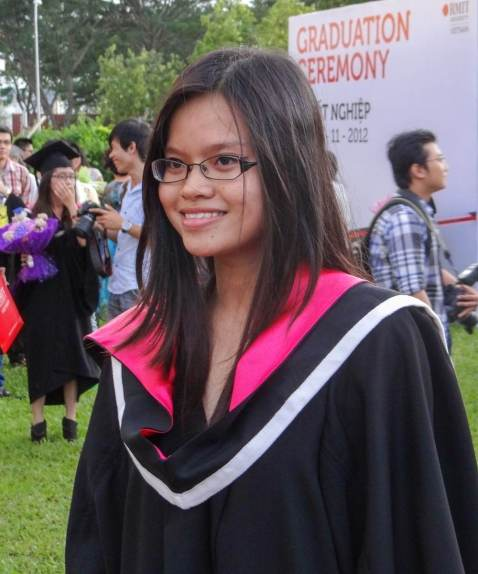 Quynh on her graduation day